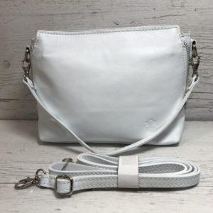 Женская маленькая сумка Vezze белого цвета