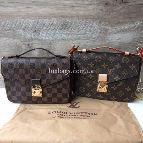 Женская сумка Louis Vuitton Metis mini коричневая