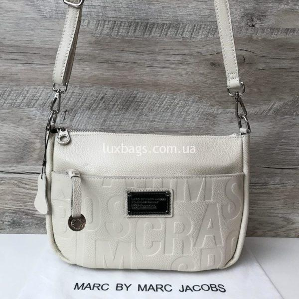 Женская кожаная сумка Marc Jacobs белая