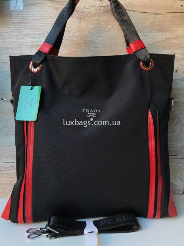 Большая женская сумка Prada прада фото 3