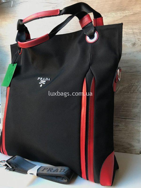 Большая женская сумка Prada прада фото 1