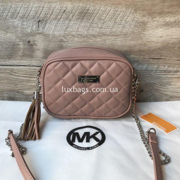 Женская сумка кроссбоди розовая Michael Kors