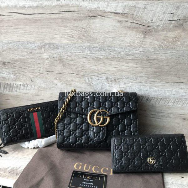 Женская сумка - клатч Gucci кожаная