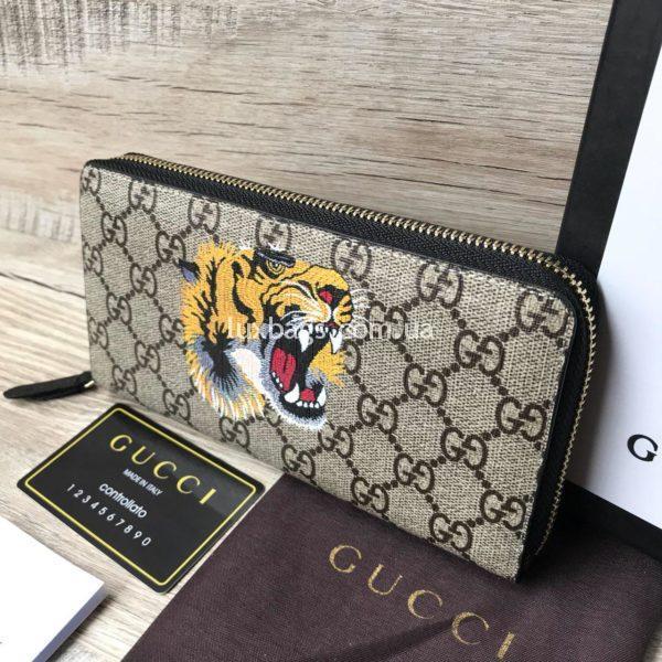 Стильный кошелек унисекс Gucci с изображением тигра