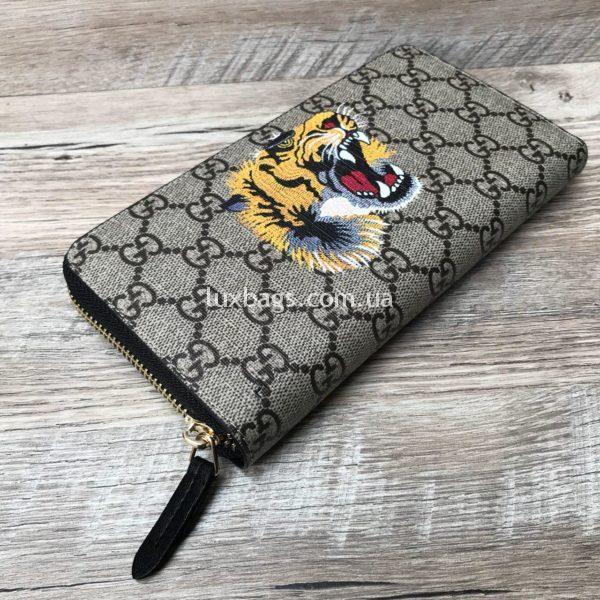 Стильный кошелек унисекс Gucci с принтом тигра