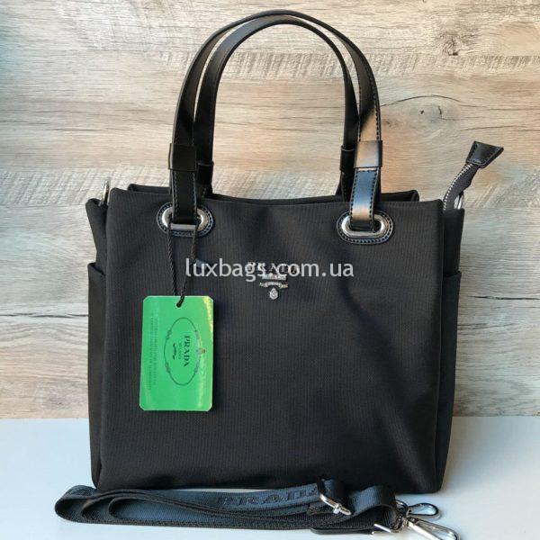 Женская сумка Prada прада черная недорогая фото 3