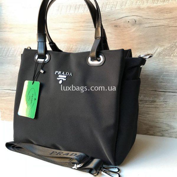Женская сумка Prada прада черная недорогая фото 2