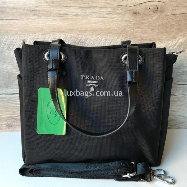 Женская сумка Prada прада черная недорогая фото