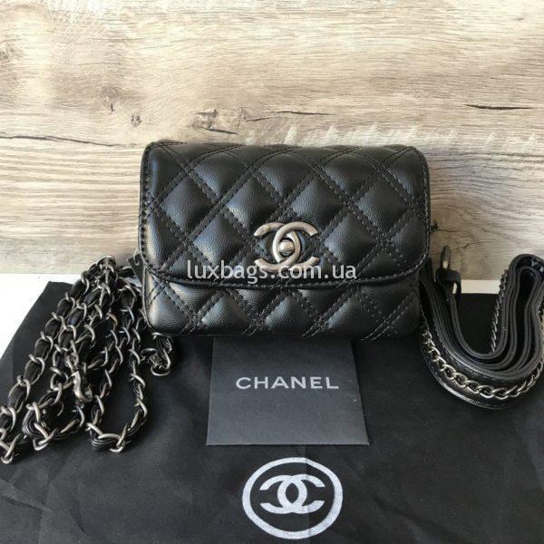 Женская сумка на пояс Chanel Шанель фото