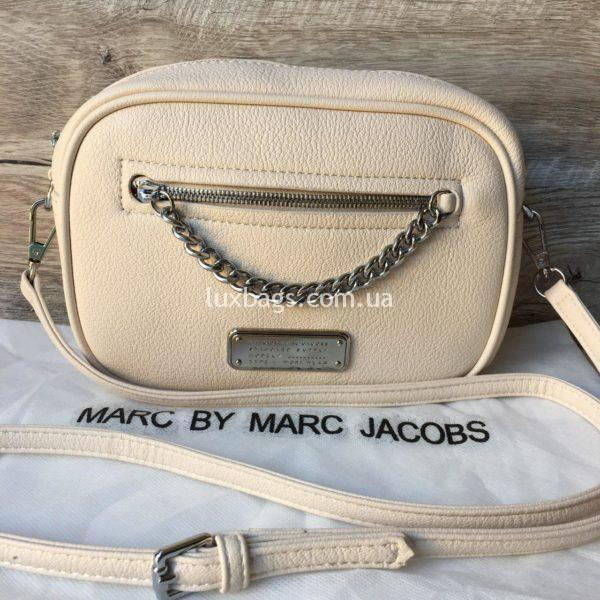 Женская модная сумка Marc Jacobs бежевая