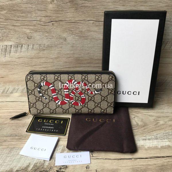 кошелек Gucci с принтом змеи гуччи