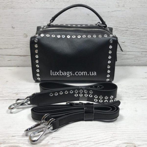 кожаная женская сумка (бочёнок)