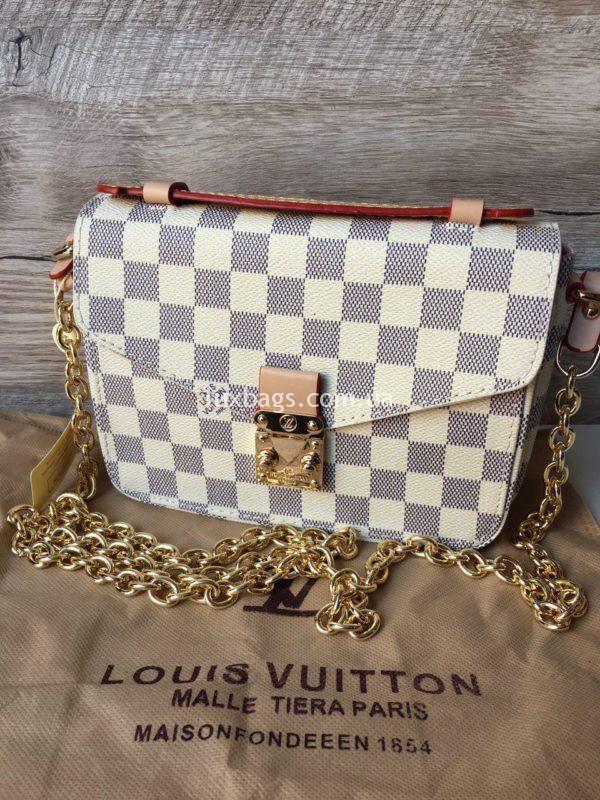 Женская сумка Louis Vuitton Metis mini белая