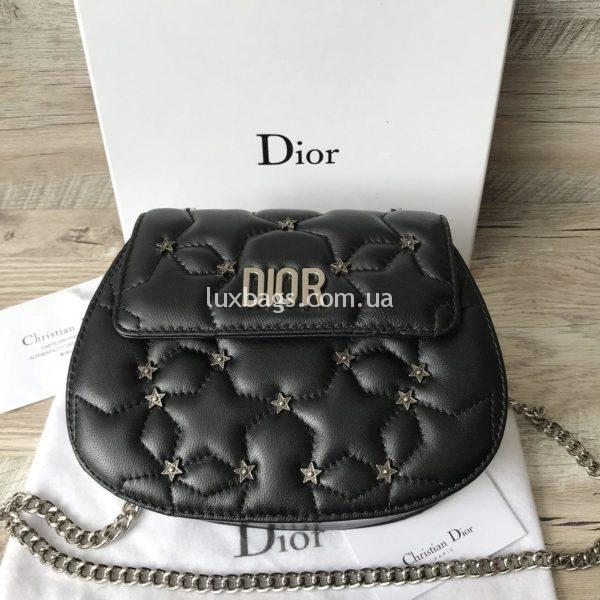 Женская кожаная маленькая сумочка Dior вид 1