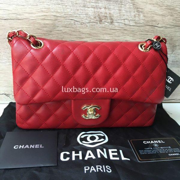 Женская сумка Chanel 2.55 Шанель красная
