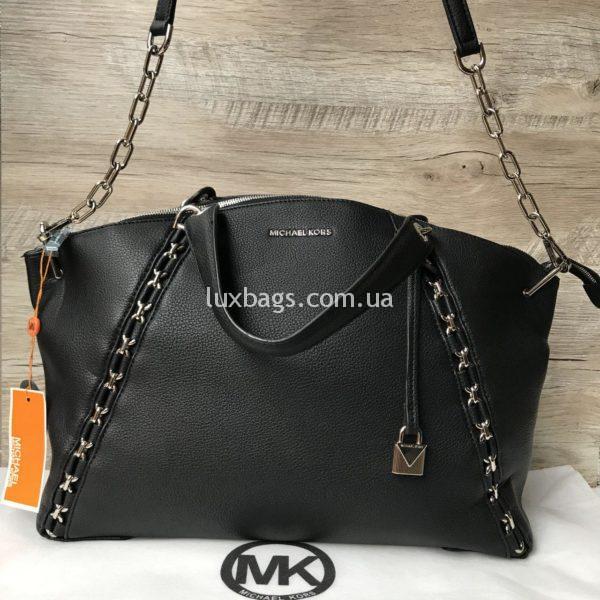 Женская большая сумка Michael Kors черная