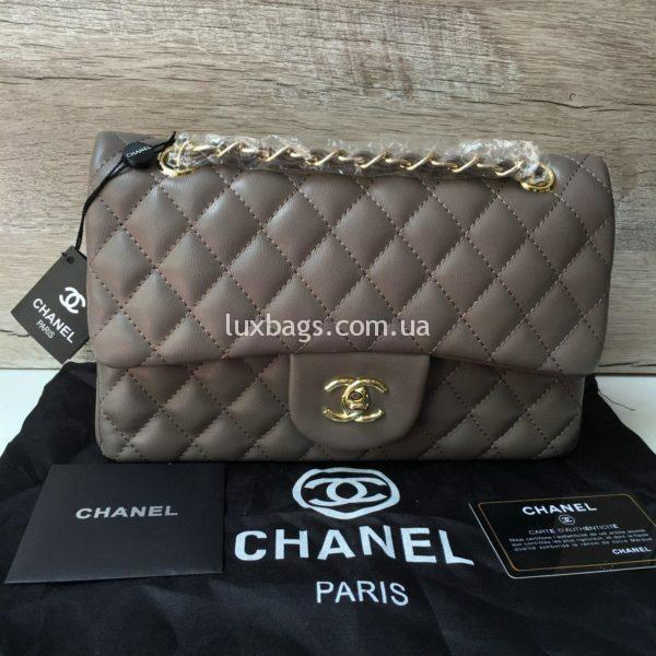 Женская сумка Chanel 2.55 Шанель бежевая