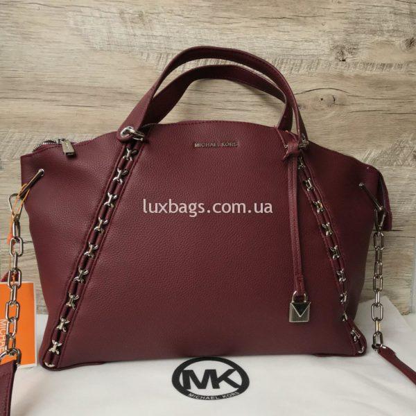 Женская большая сумка Michael Kors марсала
