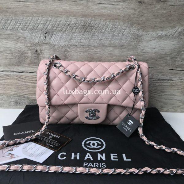 Chanel 2.55 а розовая сумка