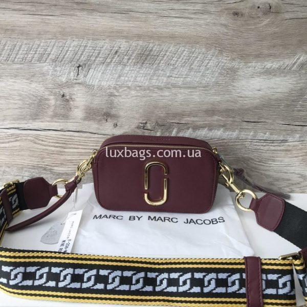 Женская сумка клатч Marc Jacobs цвета марсала