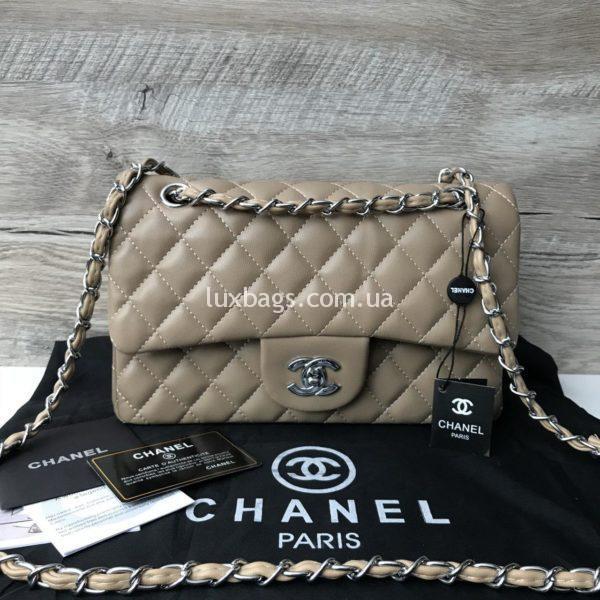 Chanel 2.55 Шанель бежевая