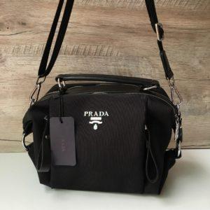 Женская сумка трансформер Prada черная фото