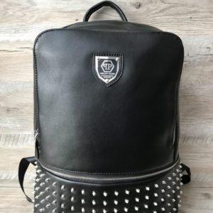 рюкзак с шипами из кожи