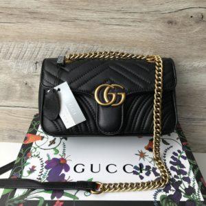 кожаная сумка Gucci Marmont кросс боди