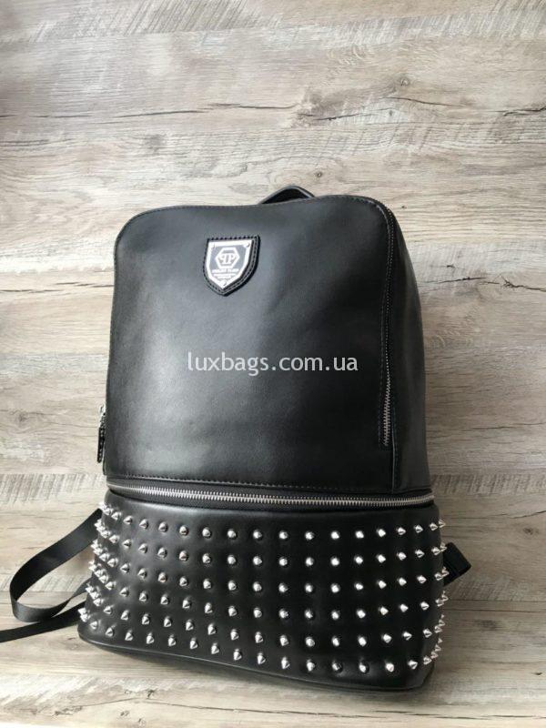 Большой крутой рюкзак Philipp Plein с шипами