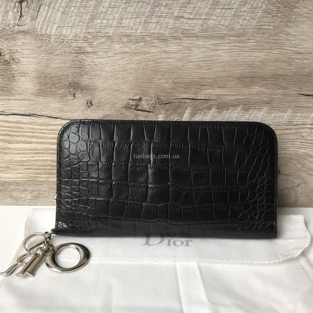 ... Кошельки   Женская красивый кошелек Dior Диор. 🔍. черный кожаный  кошелек кристиан диор f5d5b57f2e6