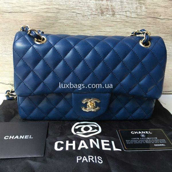 сумка Chanel 2.55 Шанель синяя купить