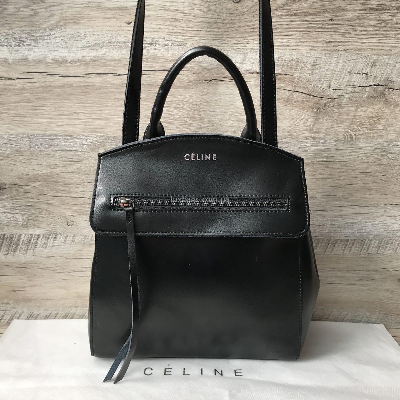 42124b0d1b8b Купить Кожаный рюкзак, рюкзак-сумка Celine (Селин) на lux-bags