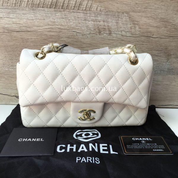 Женская сумка Chanel 2.55 Шанель белая