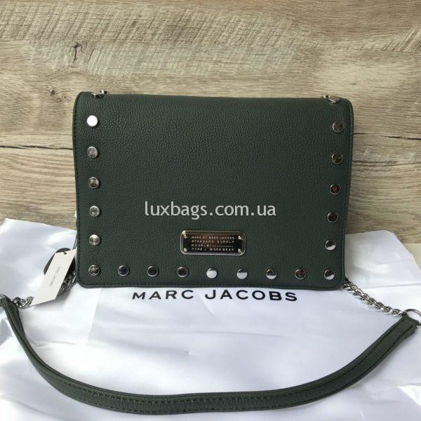 Женская сумка Marc Jacobs зеленая через плечо