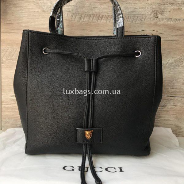 Стильная женская сумка GUCCI Гуччи черная