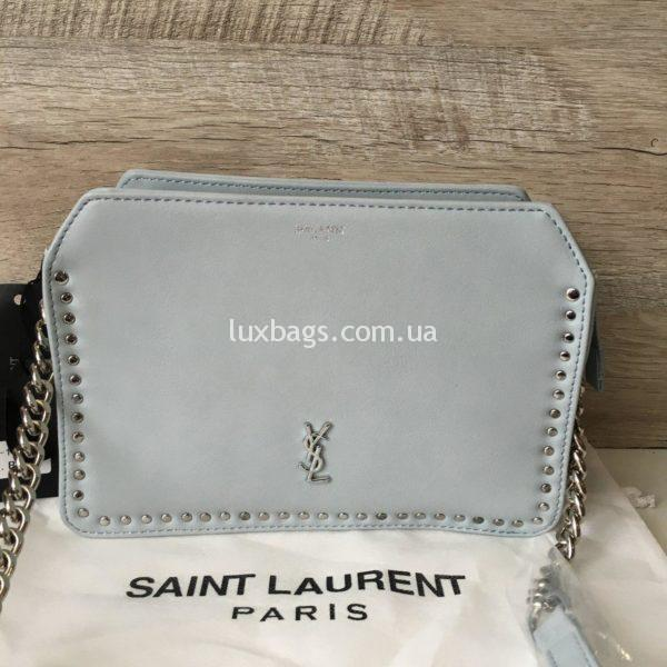 женская сумочка через плечо Yves Saint Laurent голубая