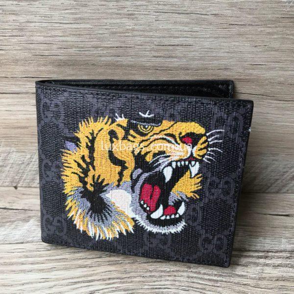 Стильный кошелёк Гуччи с эмблемой тигра