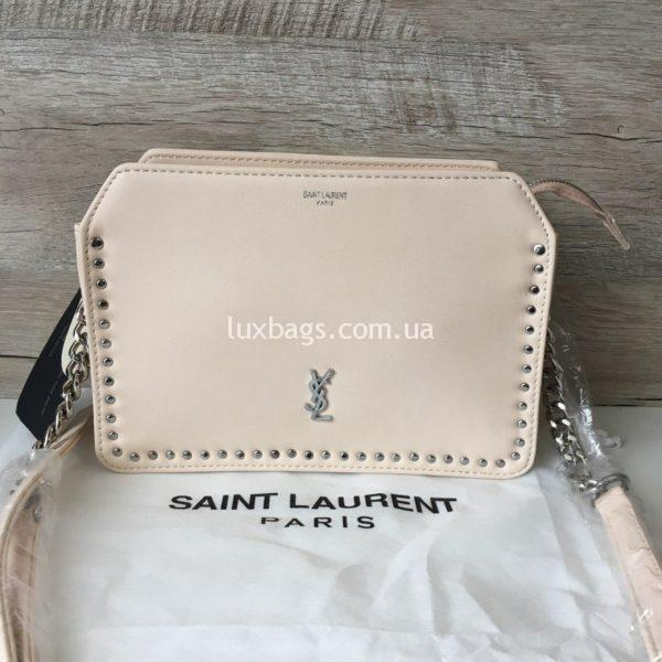 сумка кроссбоди Yves Saint Laurent розовая