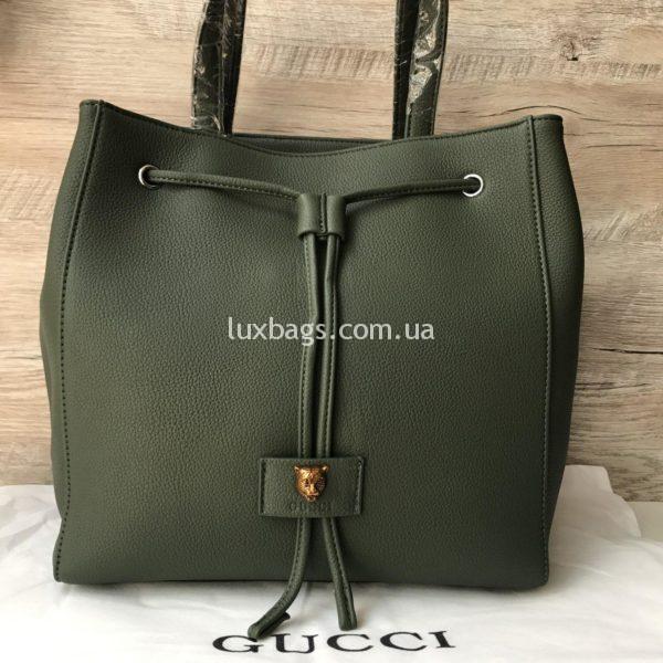 зеленая Стильная женская сумка GUCCI Гуччи