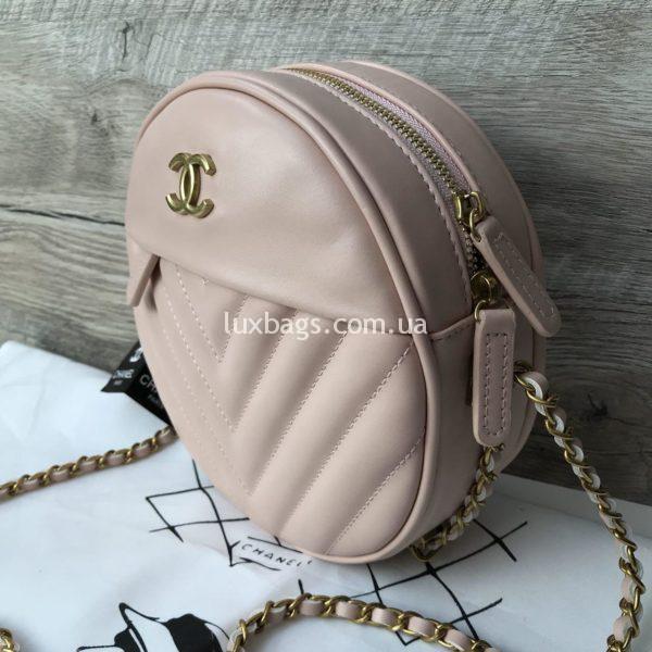 Женская круглая сумочка Chanel Шанель