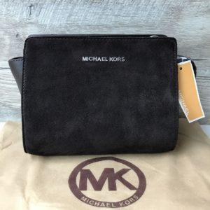 Замшевая клатч-сумка Michael Kors Selma mini черная