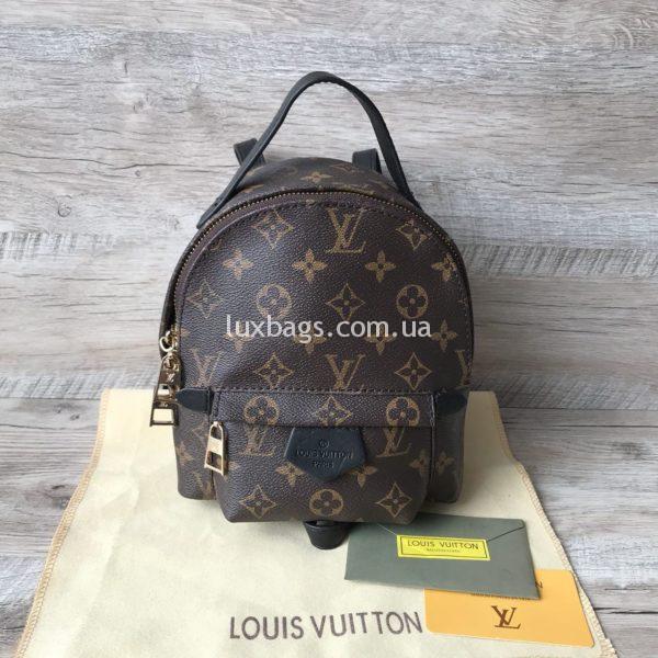 Женский мини рюкзак Louis Vuitton Луи Виттон коричневый фото1