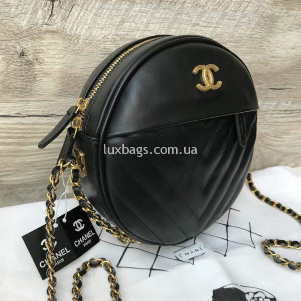 Женская круглая сумка Chanel Шанель фото