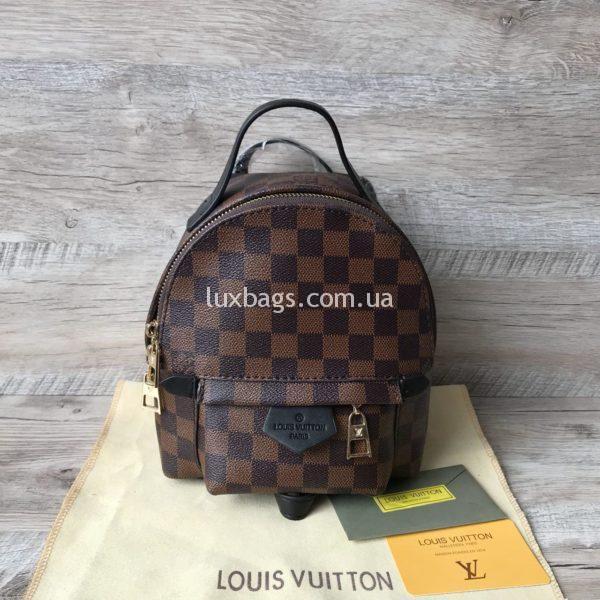 Женский мини рюкзак Louis Vuitton Луи Виттон коричневый