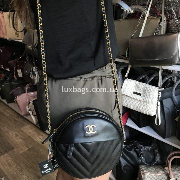 Женская круглая сумка Chanel Шанель