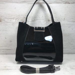 замшевая сумка брендовая черная