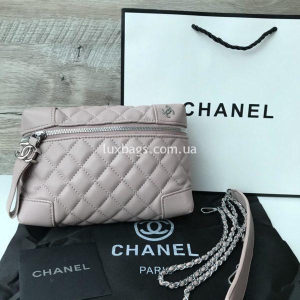 Сумочка Chanel Шанель копия бежевая