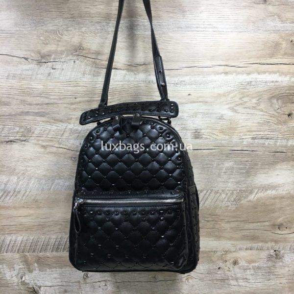 Женский рюкзак-сумка в стиле Valentino фото 3
