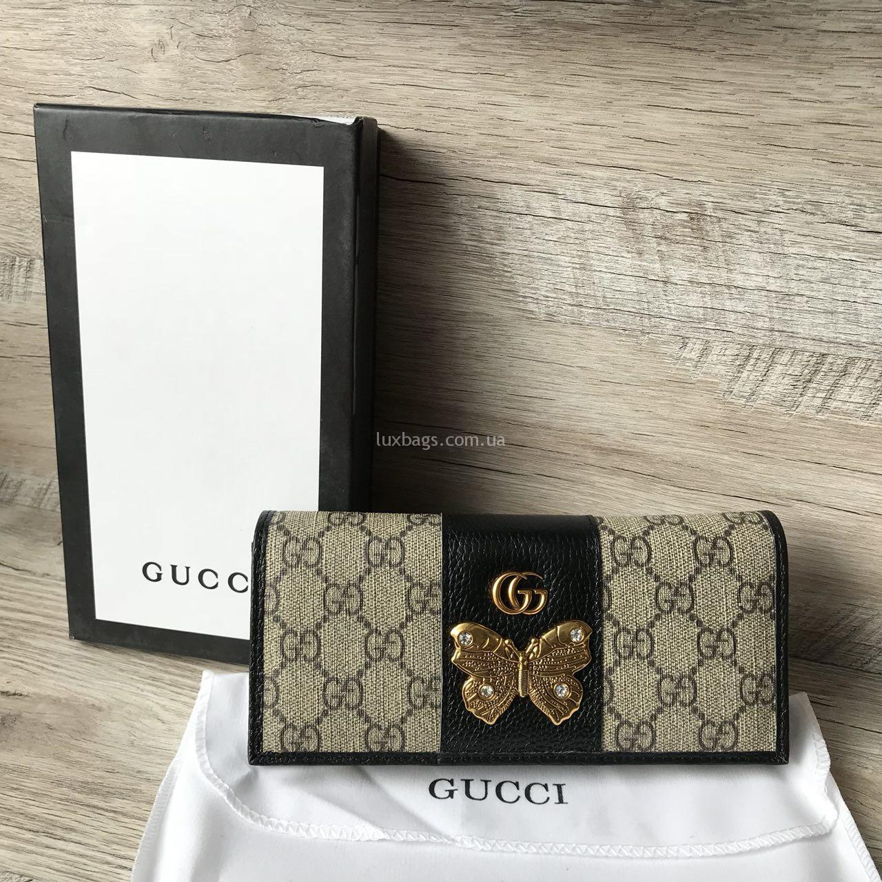 b2068c2585db Кошелёк Gucci (Гуччи) с бабочкой Купить на lux-bags