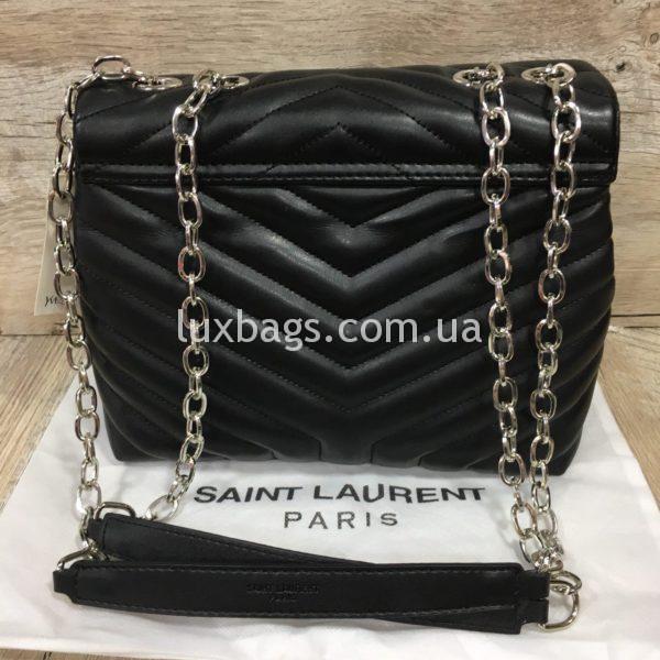 Женская чёрная сумка Yves Saint Laurent на цепочке фото 4